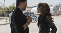 Gemma & Nero (Katey Segal and Jimmy Smits) talk it out. Photo courtesy of FX Networks.