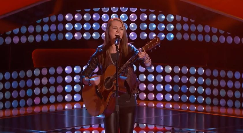 Bria Kelly performs on The Voice