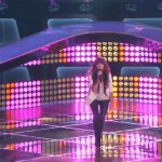 Christina Grimmie sings on The Voice stage