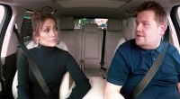 Jennifer Lopez and James Corden sing a little carpool karaoke/CBS